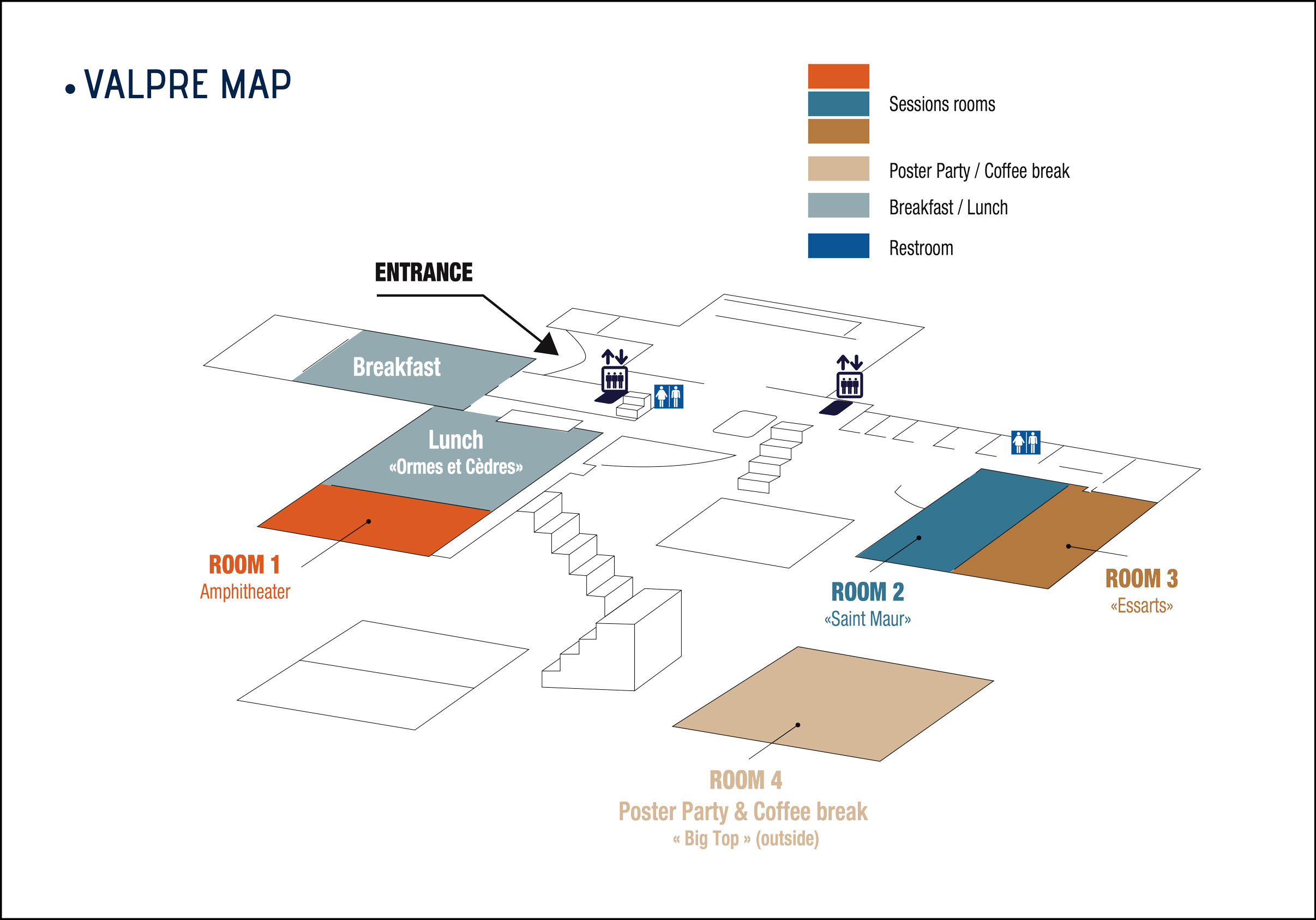 Valpré Room Map